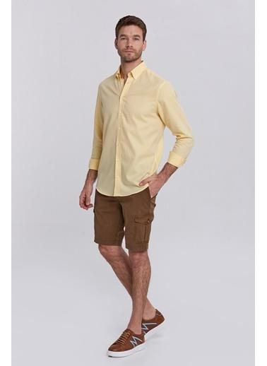 Hemington Saf Pamuk Sarı Oxford Gömlek Sarı
